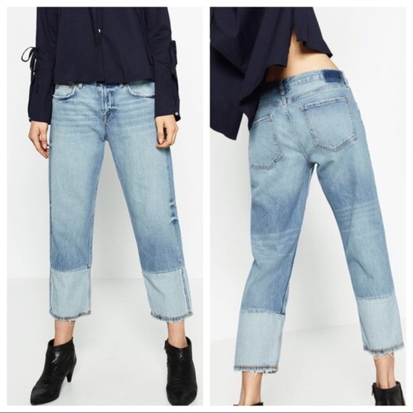 fe09e8f25b ZARA Woman Boyfit Selvedge Cropped Cuff Jeans 8
